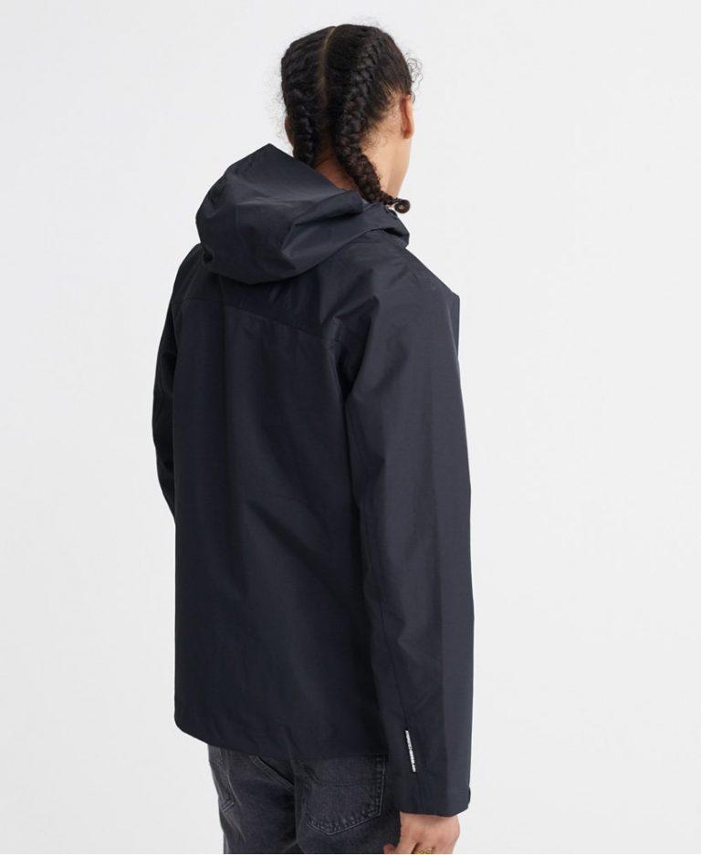 Superdry Hydrotech Waterproof Jacket Musta