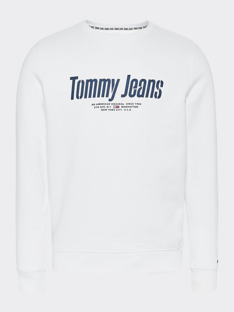 Tommy Jeans Essential Graphic Crew Valkoinen
