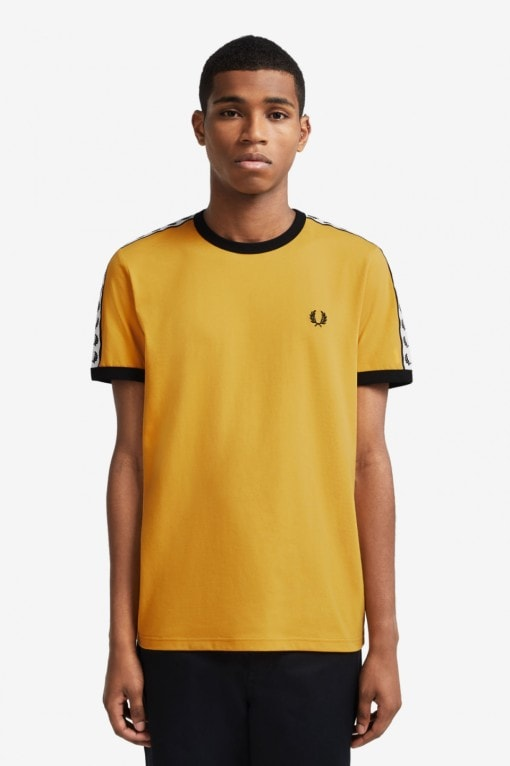 Fred Perry Taped Ringer T-Shirt Gold