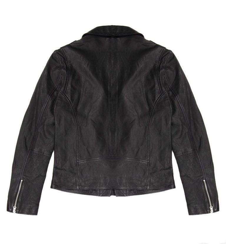 Human Scales Adam Leather Jacket Musta