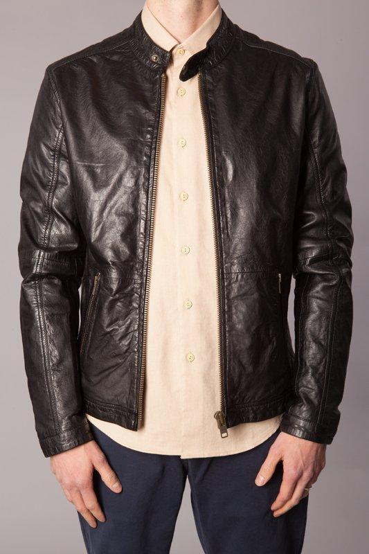 Human Scales Pete Leather Jacket Musta