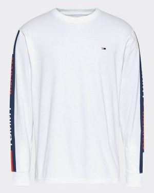 tommy jeans long sleeve tape t-shirt