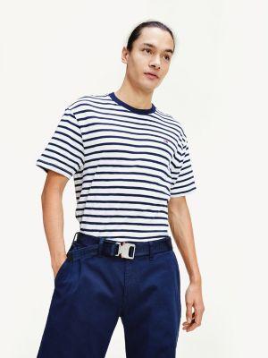 Tommy Jeans Tommy Stripe Tee Tummansininen