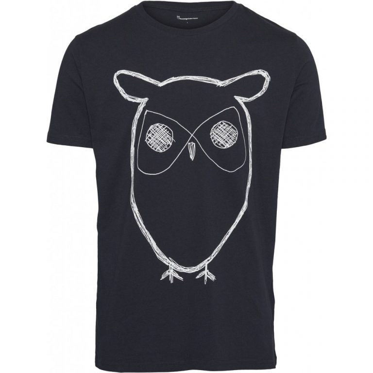 Knowledge Cotton Apparel Big Owl t-shirt