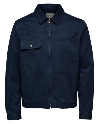 Selected Ethan Zip Jacket Blue