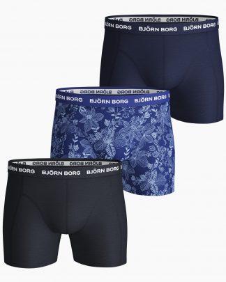 Björn Borg Sammy Fiji Flower 3-Pack Boxers Blue