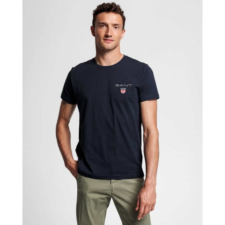 Gant Medium Shield T-Shirt Blue