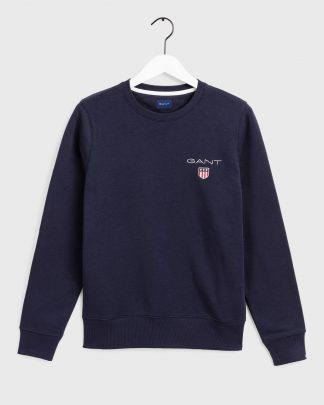 Gant Medium Shield Crew Neck Navy