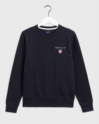 Gant Medium Shield Crew Neck Black