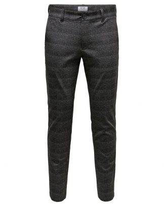Only & Sons Mark Check Pants Grey