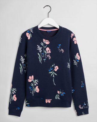 Gant Meadow Print Sweatshirt Navy