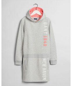 Gant Teens Hoodie Dress Grey