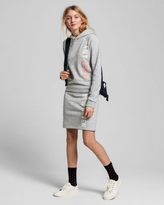 Gant Teens Hoodie Dress Grey