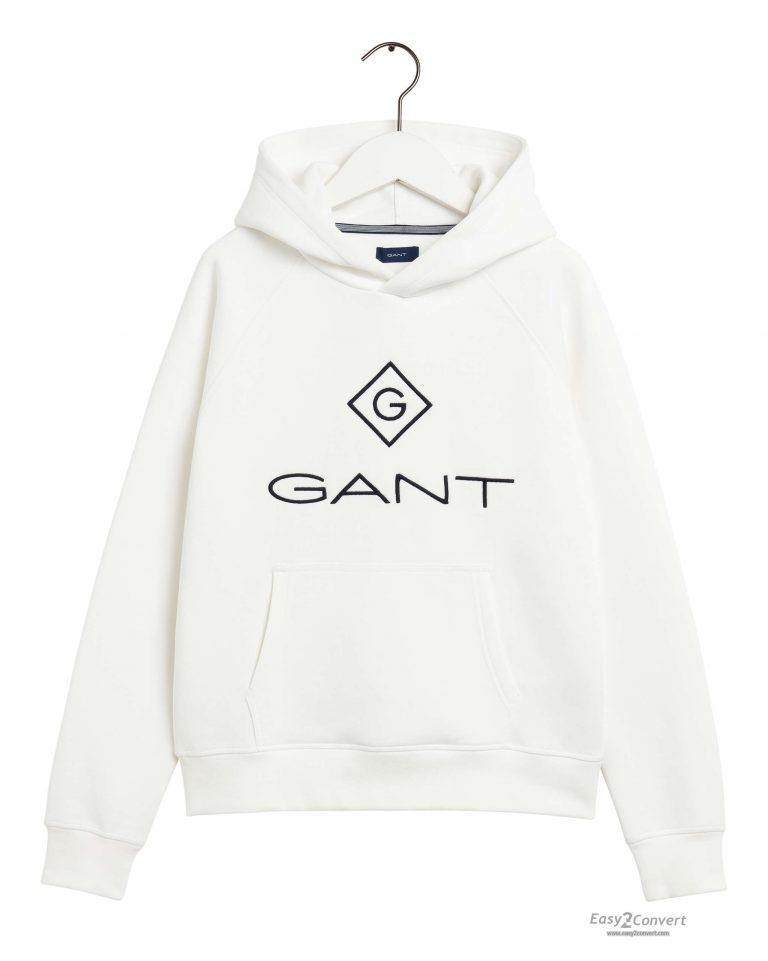 Gant Teens Lock-Up Hoodie White