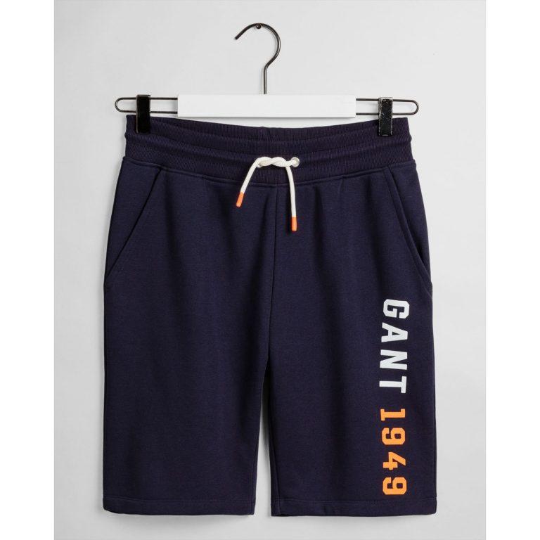 Gant Teens Sweat Shorts Navy Blue
