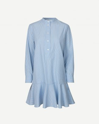 Samsoe & Samsoe Laury Shirt Dress Blue Stripe