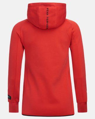 Peak Performance Tech Zip Hood Red