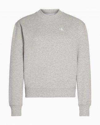 Calvin Klein Logo Embroidery Crew Neck Grey