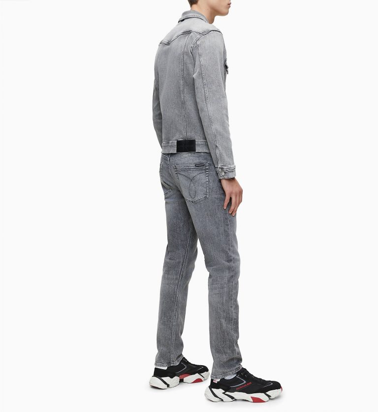 Calvin Klein Jeans Slim Denim Jacket Grey
