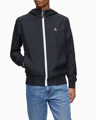 Calvin Klein Hooded Zip-up Jacket Black