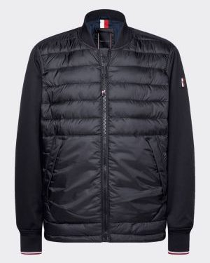 Tommy Hilfiger mix media bomber