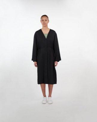 Makia Uma Coat Dress Black