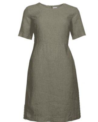 STI Carolina Linen Dress Safari green