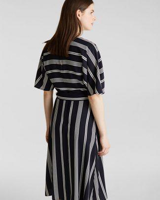 Esprit Wrap Dress Navy