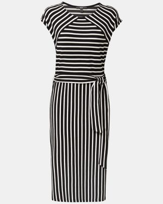 Esprit Stripe Dress Black