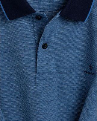 Gant 4-Color Oxford Piqué Rugger Pacific Blue