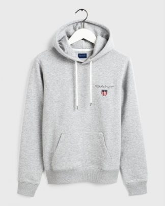 Gant Medium Shiel Hoodie Grey