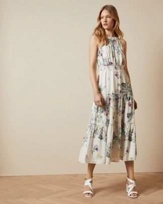 Ted Baker Kahlay Pergola Dress Ivory