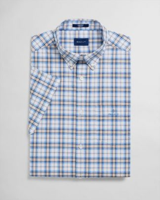 Gant Multi Check Shirt Khaki