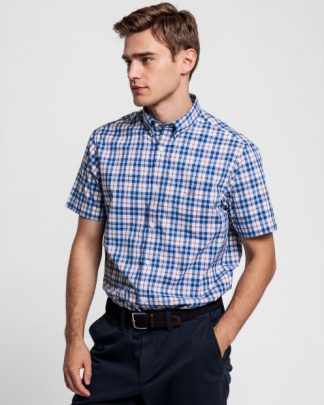 Gant Multi Check Shirt Arancia