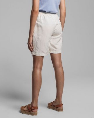 Gant Summer Linen Shorts Eggshell