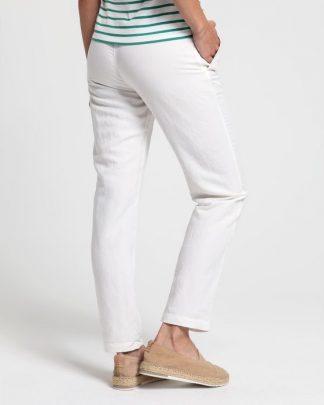 Gant Summer Linen Pull-on Pants Eggshell