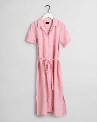 Gant Linen Chambray Shirt Dress Summer Rose