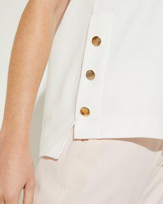 Comma Button Top White