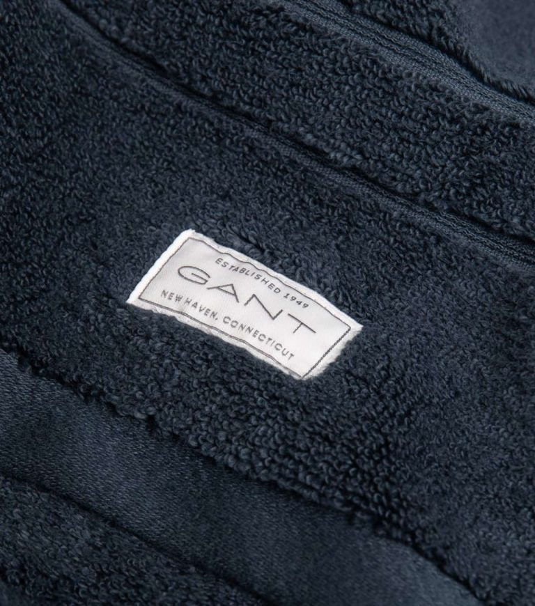 Gant Home Organic Cotton Terry Towel Sateen Blue