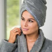 Luin Living Hair Towel Granite