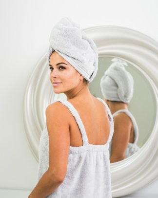 Luin Living Hair Towel Pearl grey