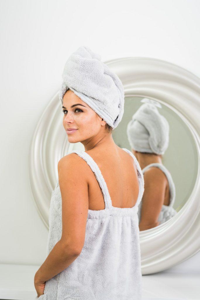 Luin Living Hair Towel Pearl grey