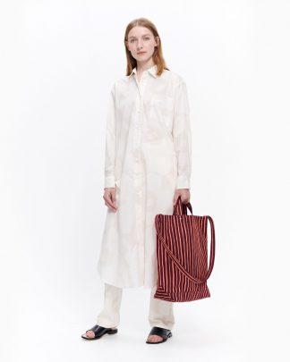 Marimekko Jalous Unikko Shirt Dress Beige