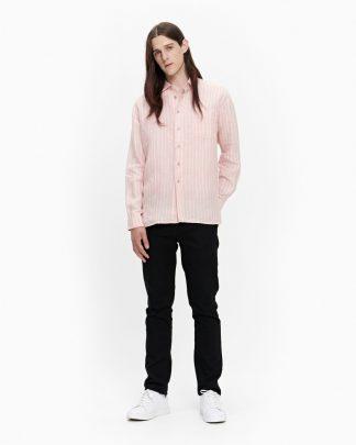 Marimekko Jokapoika Linen Shirt Peach-off white