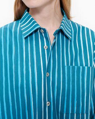 Marimekko Jokapoika Shirt Turqouse