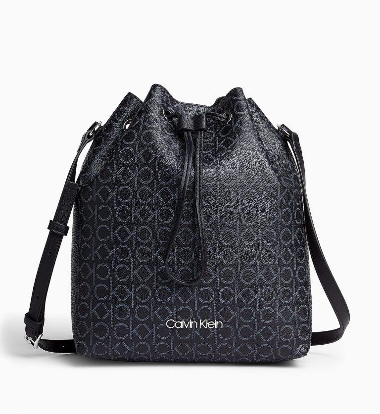 Calvin Klein Logo Bucket Bag Black