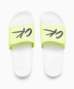 Calvin Klein Velcro Slide White