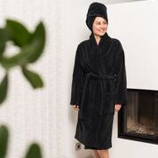 Luin Living Bath Robe Black