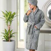 Luin Living Unisex Bath Robe Granite