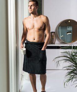 Luin Living Wrap Towel Black